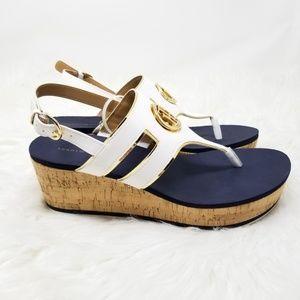 3a8741b69c9 Tommy Hilfiger Shoes - Tommy Hilfiger Gelia Wedge Sandals Size 10